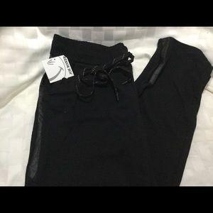 Women's Joe Boxer Stretch Pants XL Black